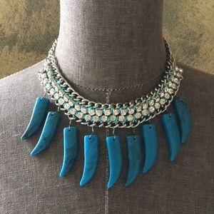 Jewelry - NWOT Turquoise Stone and Rhinestone Necklace
